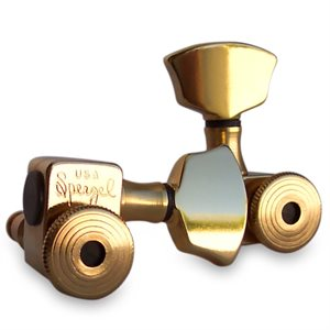 SPERZEL - 3+3 TRIMLOK GUITAR TUNERS - GOLD