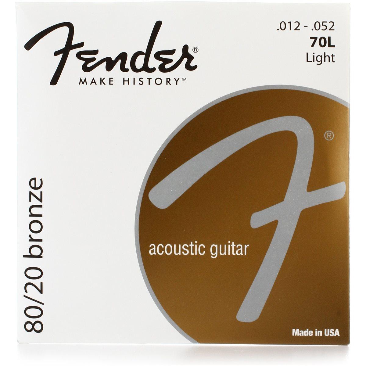 FENDER - 80 / 20 BRONZE ACOUSTIC STRINGS