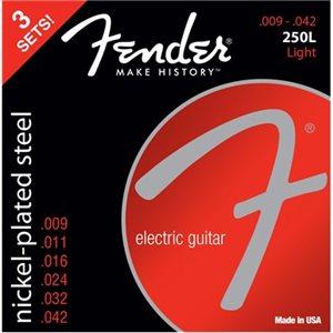 FENDER - 3-PACK SUPER 250'S NICKEL-PLATED STEEL STRINGS