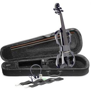 STAGG - EVN-X-4 / 4-BK - 4 / 4 electric violin set w / soft case and headphones - black