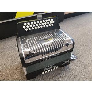 HOHNER - 3100GB Panther Diatonic Accordion - Key of G-C-F - Black