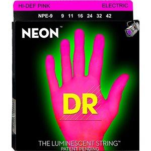 DR - NPE9 - Hi-Def Neon Pink K3 Coated Nickel Plated Electric Guitar Strings - 9-42