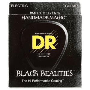 DR - BKE 9 - Black Beauties K3 Coated Electric Guitar Strings-Light Gauge - 9-42