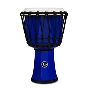 LP - LP1607BL - 7-INCH ROPE TUNED CIRCLE DJEMBE WITH PERFECT-PITCH HEAD - Blue