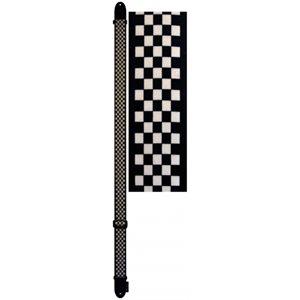 """PERRI'S - Strap 2"""" Polyester - Heat Transferred Design - White / Black Checkers"""