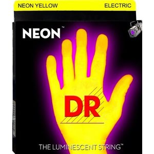 DR - NYE10 - Hi-Def Neon Yellow K3 Coated Nickel Plated Electric Guitar Strings-Medium - 10-46