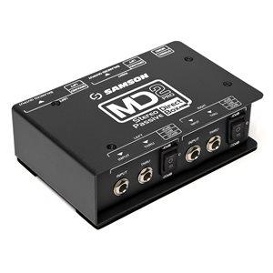 SAMSON - MD2 Pro - Stereo Passive Direct Box