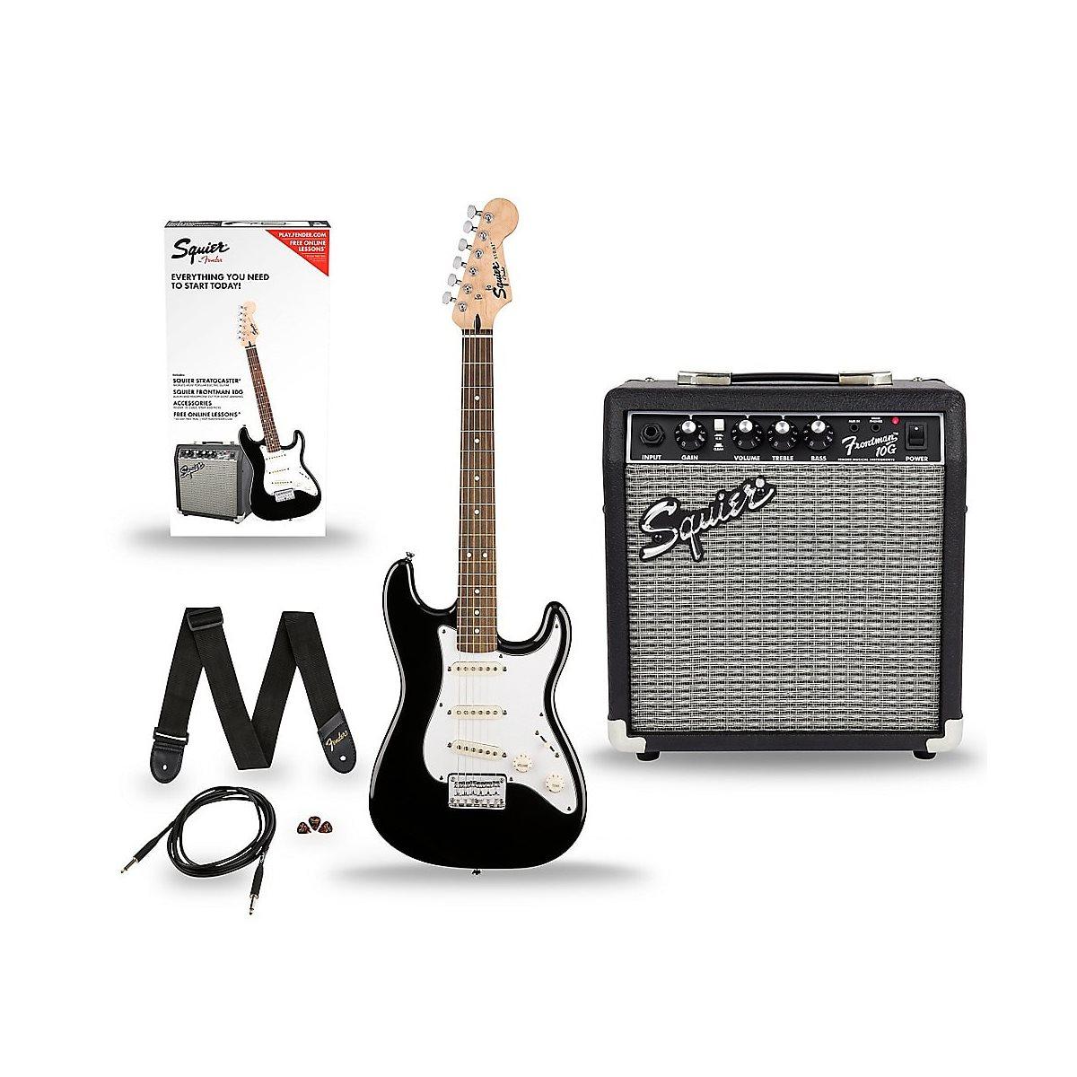 FENDER - Strat Pack w / 10G Amp, Gigbag & Accessories - NOIR