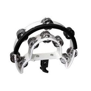 MANO PERCUSSON - MP-DDC-RD - Double Cutaway Tambourine for Drum Set - BLANC