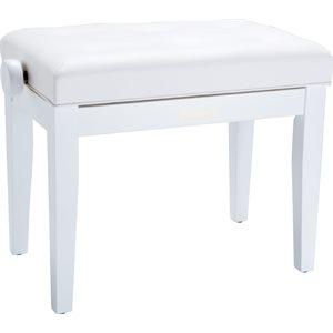 ROLAND - RPB-300WH - Piano Bench with Cushioned Seat w / satin white finish