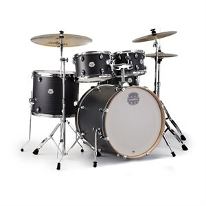 MAPEX - Storm Rock 5-Piece Drum Set - Ebony Blue Grain