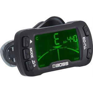 BOSS - TU-03 - Clip-On Tuner & Metronome